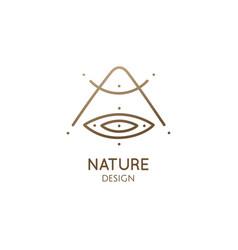 nature minimal linear logo vector image