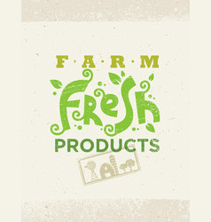 Organic farm fresh healthy food eco green vector