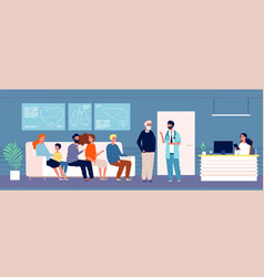 patients waiting hospital rooms with persons vector image