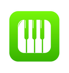 piano keys icon green vector image