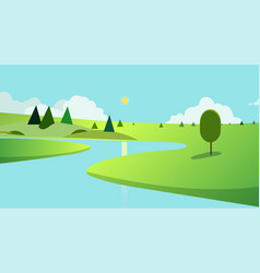 public park with trees and sky background vector image