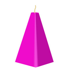Purple conical candle icon cartoon style vector