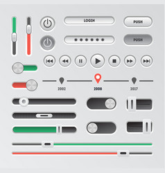 Realistic navigation element set technology vector