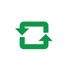 recycle and reuse symbol with green arrows in vector image