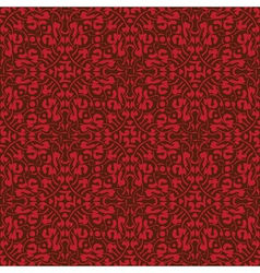 Red floral seamless wallpaper pattern vector image