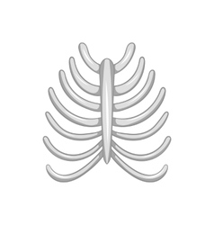 Ribs icon black monochrome style vector