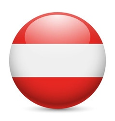 Round glossy icon of austria vector