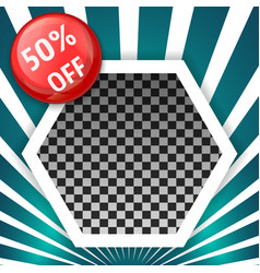 sale banner template with empty space for product vector image