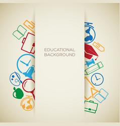 school education concept vector image