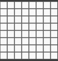 seamless rope mesh pattern vector image