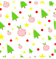 seamless tileable christmas vector image
