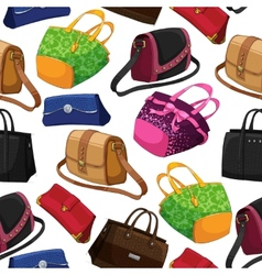 Seamless womans fashion bags background vector