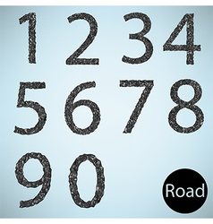 Set number road asphalt texture vector image