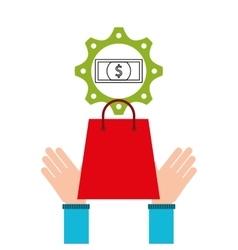 shopping e-commerce bill money icon graphic vector image
