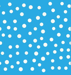 Snowy seamless patern white dot snowflakes on vector