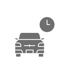 Temporary parking carsharing service grey vector