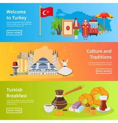 Turkey Flat Horizontal Banners vector
