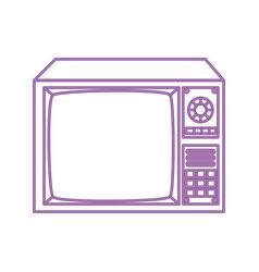 Tv nineties retro style neon light isolated icon vector