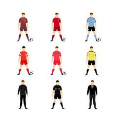 Various football uniform world team set vector
