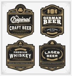 Vintage frame design for labels banner sticker vector image