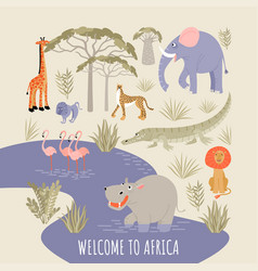 welcome to africa banner vector image