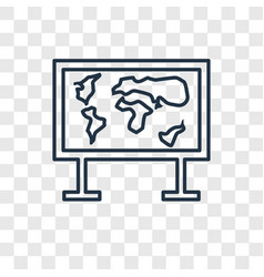 world map concept linear icon isolated on vector image