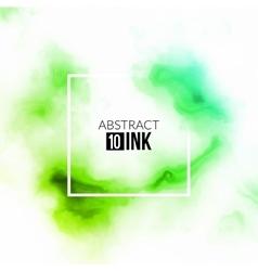 Abstract ink splash liquid blurred smoke vector