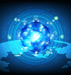 Cloud computing process data vector image
