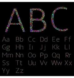 Colorful confetti letters vector image