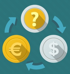 Movement of money currency rates vector