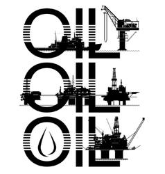Oil platforms vector image