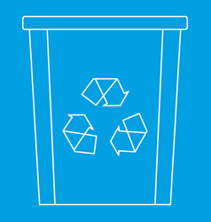 Recycle bin icon outline style vector