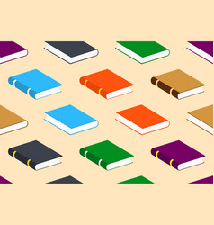 seamless pattern with closed colorful books vector image vector image