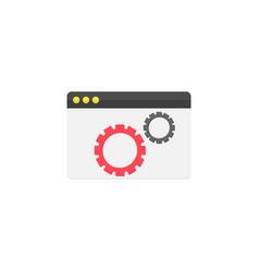 website optimization flat icon vector image vector image