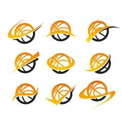 Basketball logo icons vector