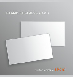 Blank business card vector