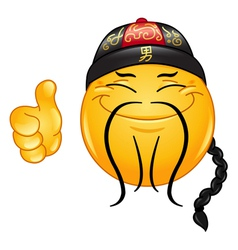 chinese emoticon vector image vector image