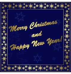 dark blue christmas card vector image vector image