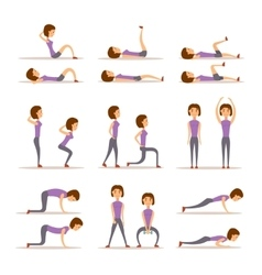 Home workout woman vector image
