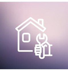 House repair thin line icon vector image