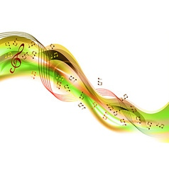 music abstract green vector image