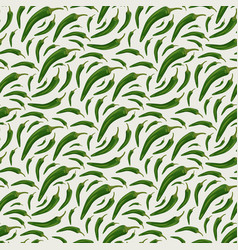 seamless pattern with chili peppers vector image