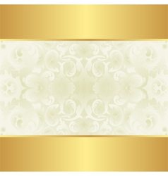 creamy and gold background vector image