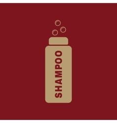 The shampoo icon washing symbol flat vector