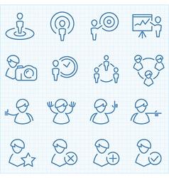 Universal GUI people theme icons set vector image
