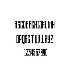 Alphabet geometric grotesque unique vector