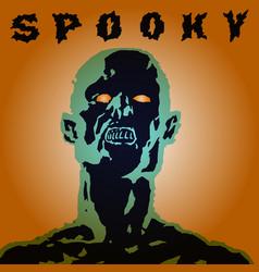 scary screaming grim demon head vector image vector image