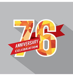 76th Years Anniversary Celebration Design vector image