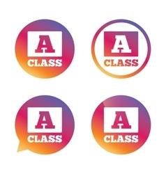 A-class sign icon Premium level symbol vector image