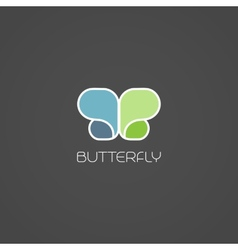 Abstract butterfly symbol vector image